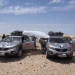 Erste Pause in der Sahara