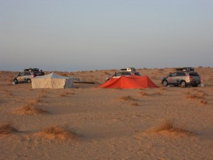 Zeltlager in der Wüste