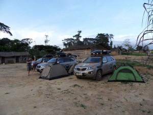 Zelten an der Grenze