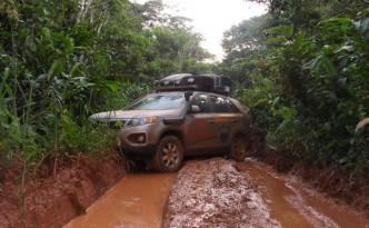 Nationalstraße im Kongo