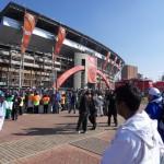 Vor dem Stadion
