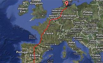 GPS Karte Europa