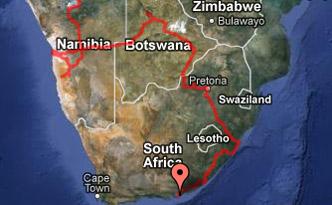 GPS Karte Südafrika