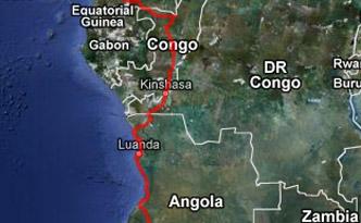 GPS Karte Zentralafrika