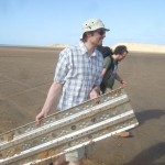Einsatz der Sandbleche