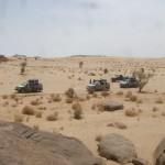 Polizeikontrolle in der Wüste