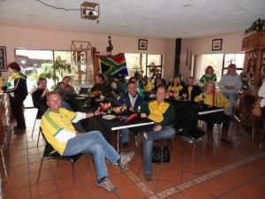 Bafana Bafana in der Unterkunft