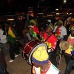 Ghanaer vor dem Spiel