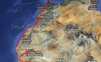 GPS Karte Nordafrika