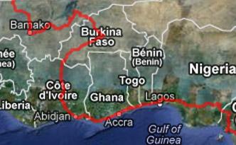GPS Karte Westafrika